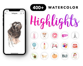 Instagram Story Highlight Icons Watercolor Instagram Stories Highlights Icons Social Media Icons Highlight Covers Watercolor Covers Download