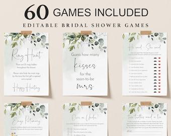 bridal shower games editable