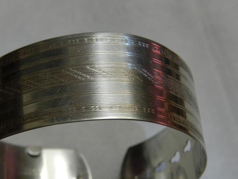 29,83grm or 1,05oz Vintage Sterling Silver 925  Cuff Bracelet !!