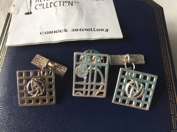 Sterling Silver hallmarked real scottish made cufflinks