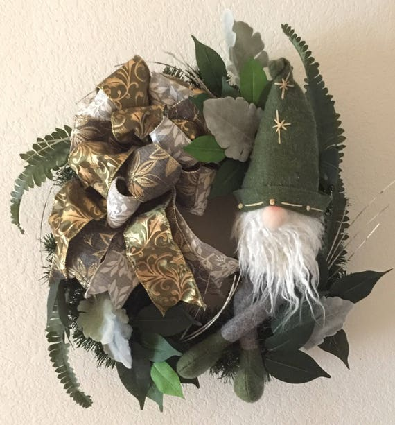 Christmas Reef.Christmas Wreath Knome Woodsy Wreath Old Time Christmas Wreath Forest Wreath Christmas Reef