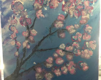Canvas Painting - 'Cherry Blossoms'
