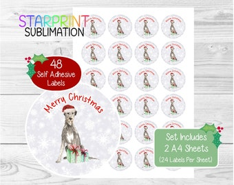 Dogue de Bordeaux Christmas Stickers//Envelope Seals 48 Labels For Cards//Gifts