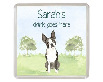 Mothers Day Gift From The Dog French Bulldog Coaster Drinks Mat Fun Quote