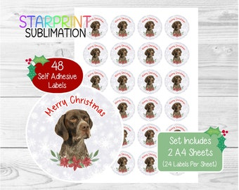 Pointer Christmas Labels by Starprint No 3