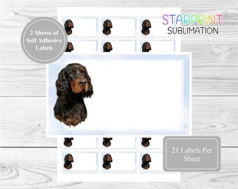 English Setter Self Adhesive Gift Labels by Starprint
