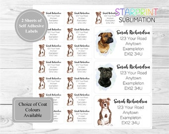 42 by Starprint Staffordshire Bull Terrier Dog Self Adhesive Gift Labels