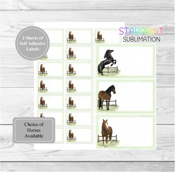Horse Christmas Labels design by Starprint Set of 42 self adhesive labels