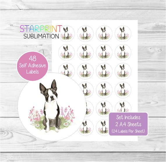 Boston Terrier Dog Wrapping Paper by Starprint Visit our shop