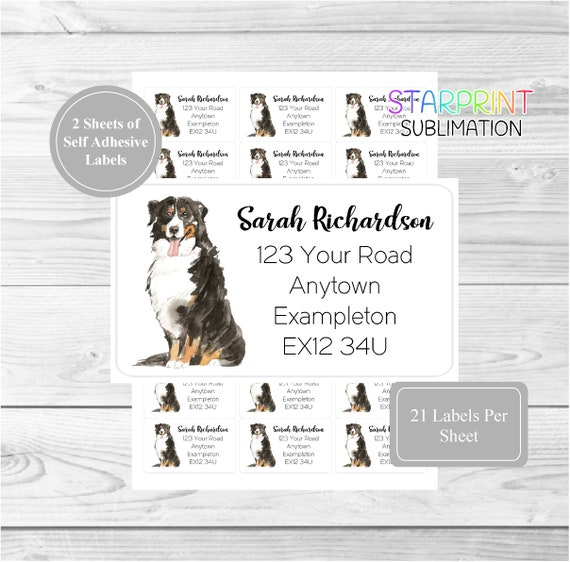 Long Coat Chihuahua 42 Personalised Address Labels Customised Return Stickers