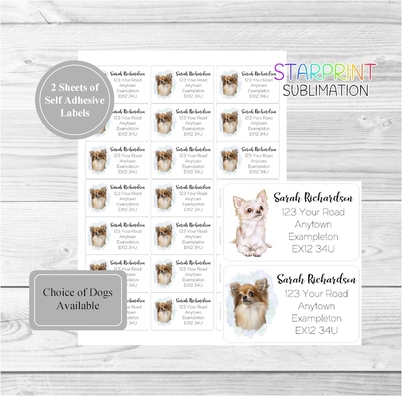 Chihuahua Christmas Labels by Starprint
