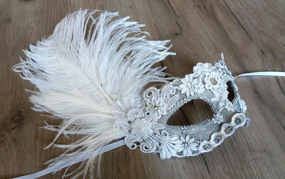 Impressions Silver Masquerade Mask for Women A-2004S-R