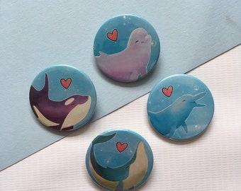 Whale/Dolphin Appreciation Badges