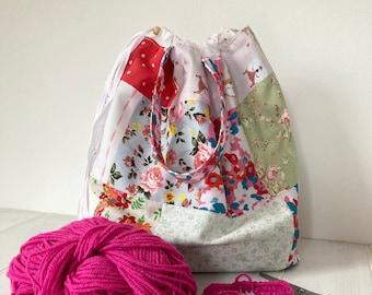 Patchwork Drawstring Project Bag