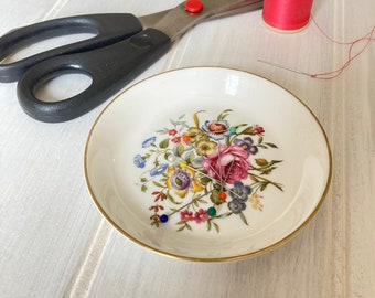 Floral China Magnetic Pin Dish