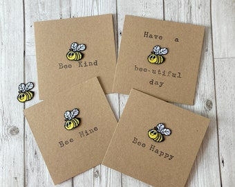 Bee Quote Recycled Greeting Cards