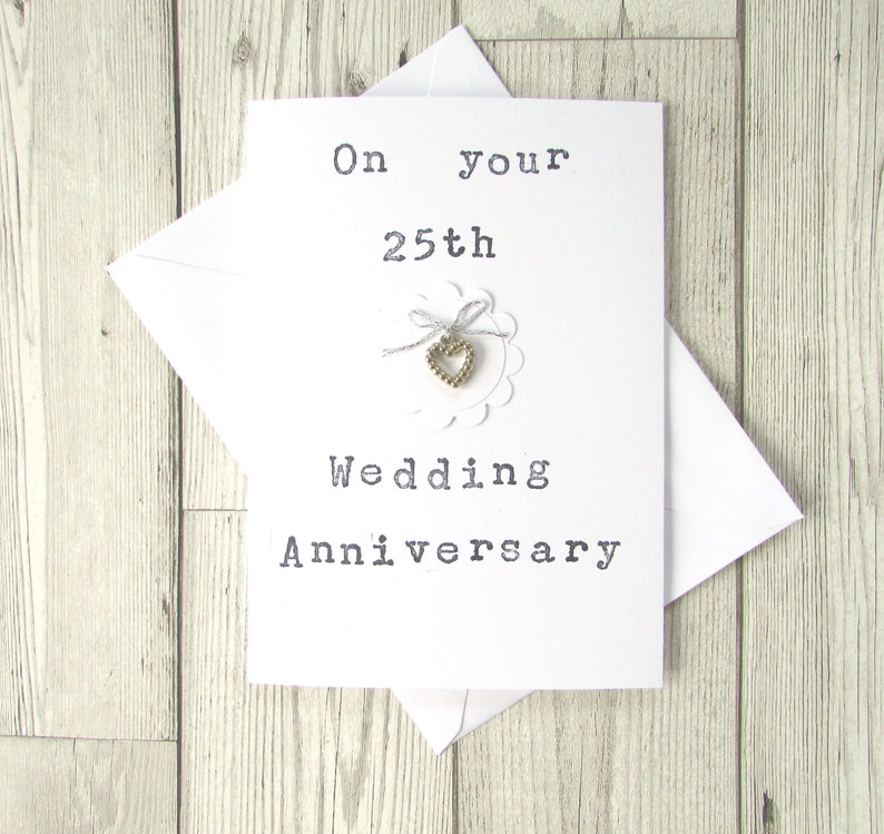 Greeting Cards Invitations Silver Wedding Anniversary Card