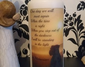 We Will Meet Again Pet Boxer Dog Silhouette Memorial Pillar Candle -