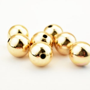 18K Gold Filled Beads Size 6mm8mm Diamond Cut Round Ball Bead For Jewelry Making GF3246GF3326 18KGF