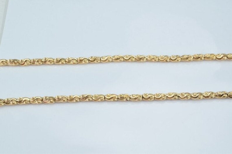 3mm Width 18K Gold Filled Beads Chain Size 19.5 Inch Long Gold Filled Finding Chain For Jewelry Making Cg81