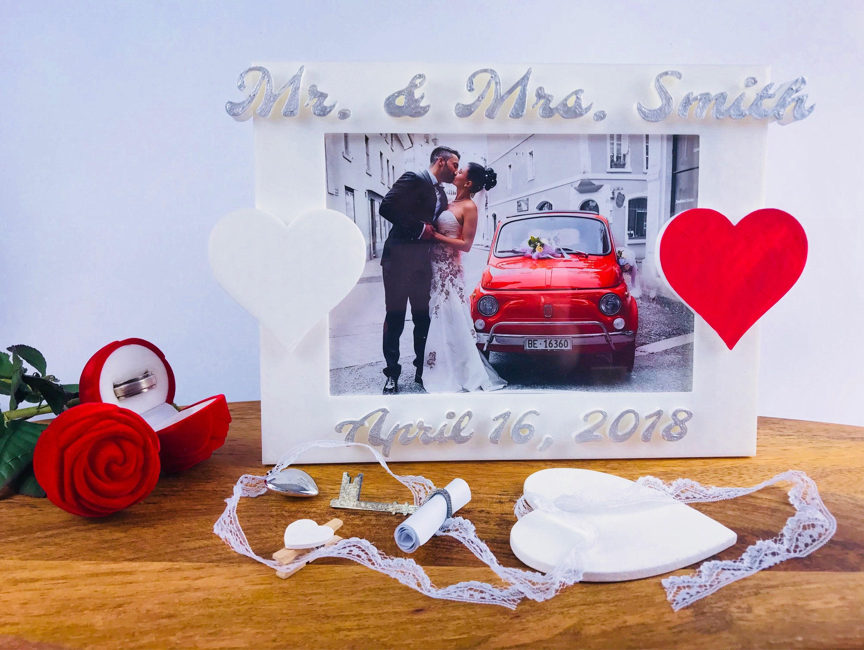 Braut und Bräutigam Geschenk Hochzeits-Bilderrahmen Mutter | Etsy