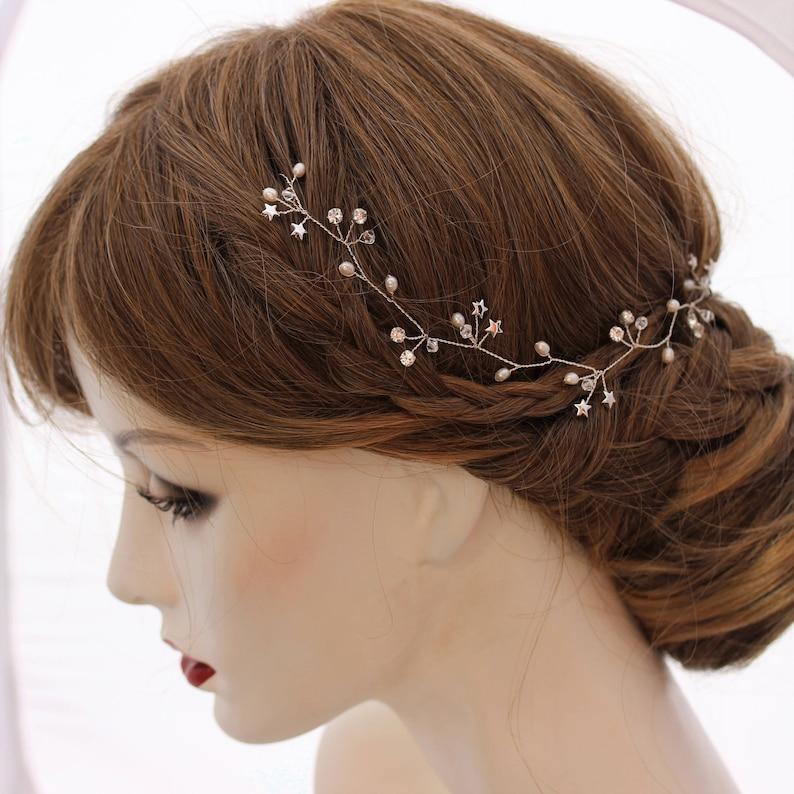 Star Bridal Headpiece Silver Star Hair Accessory Star Wedding Hair Accessory Gold Star Bridal Hair Wreath Delicate Star Hair Vine