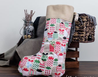 Christmas Stocking • Cosy Presents Gifts Stocking Decoration With Super Soft Fleece Interior
