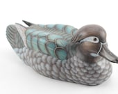 Exquisite Decorative Duck Decoy With Glass Eyes