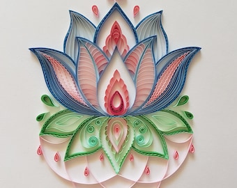 Quilled Lotus Flower Etsy