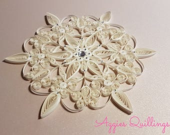 Beautiful Large Quilled Snowflake Ornament