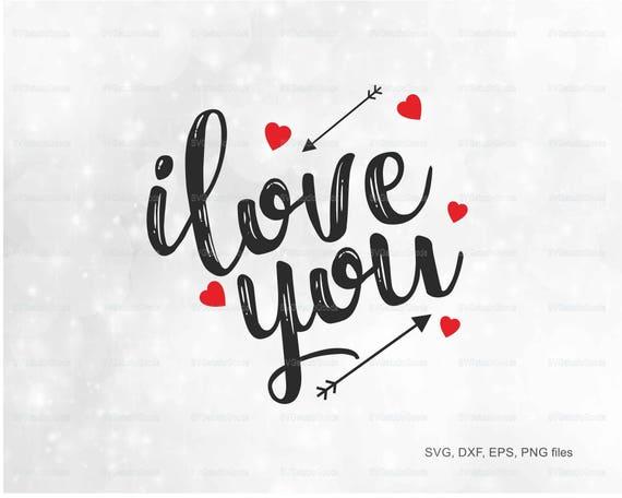 Valentine Svg I Love You Heart Clipart Eps Dxf Png Pdf Etsy