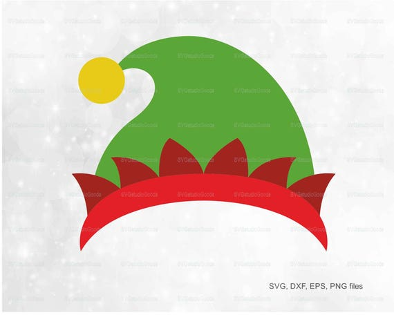 elf hat svg elf hat clipart eps dxf png pdf elf hat etsy