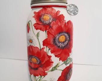 Red Flower : Centrepiece, vase, Storage jar