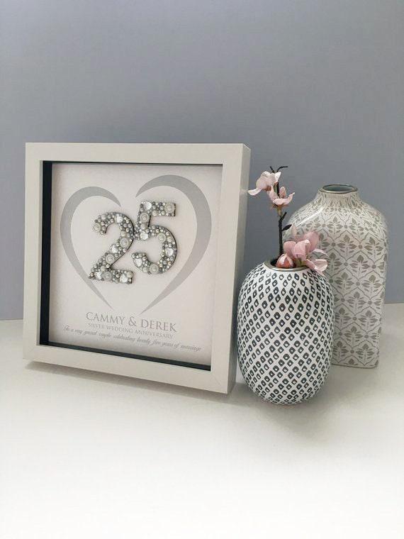 Silver Wedding Anniversary Gift 25th Anniversary Gift Etsy