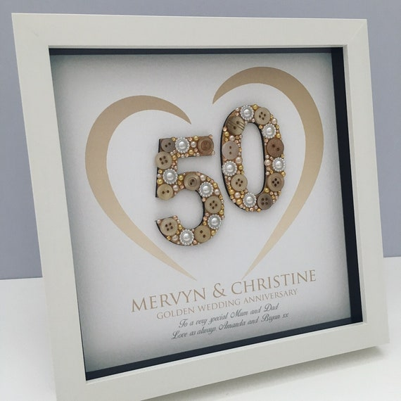 Golden Wedding Anniversary Gift 50th Anniversary Gift Etsy