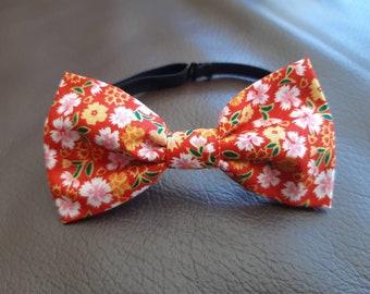 6ab6b54d763d5 Noeuds papillon ajustable pour enfant, coton liberty, idéal cérémonie, rouge