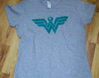 9ebabe508 Wonder Woman Awareness ribbon T shirt different color available