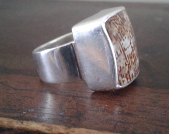 hand crafted silver ring
