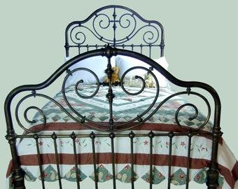 689af944534 Full Antique Brass Bed Frame Double Size