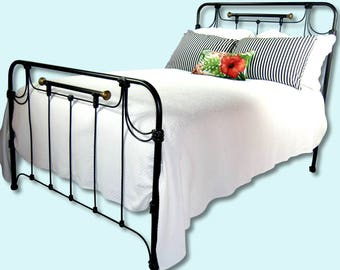 Full Antique Cast Iron Bed Frame Double Wrought Metal Steel