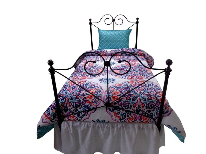 9a65f376a841e Twin Antique Cast Iron and Brass Bed Frame antique iron