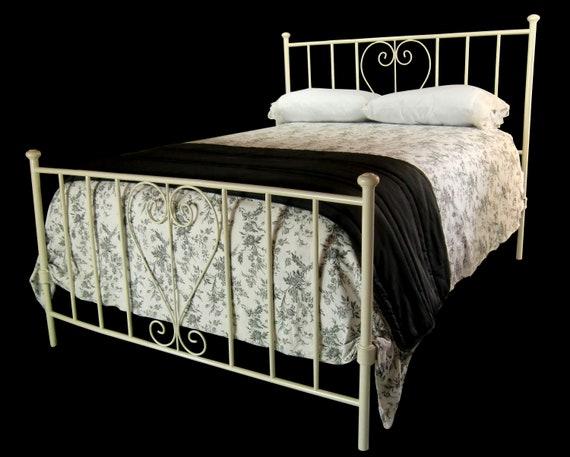 Antique Queen Size Cast Iron Bed Queen Bedframe Antique Etsy