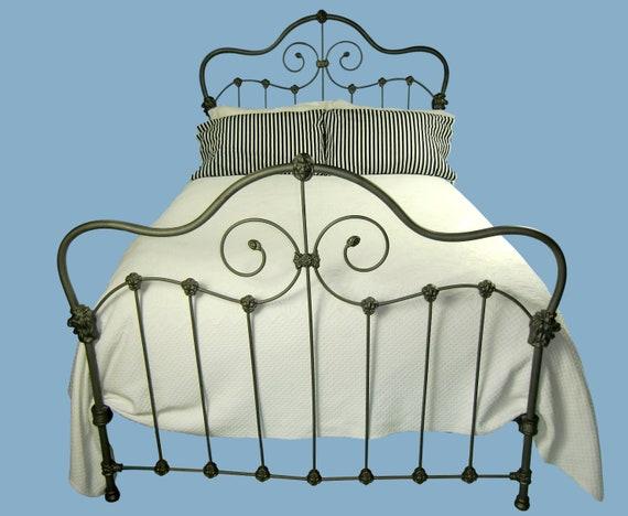 victorian bed Queen Antique Cast Iron Bed antique metal bed farmhouse antique wrought iron bed antique steel bed queen bed frame