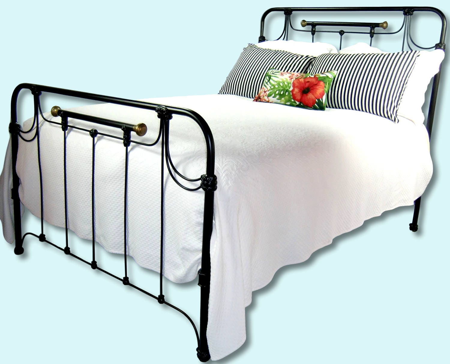 Full Antique Cast Iron Bed Frame Double Antique Wrought