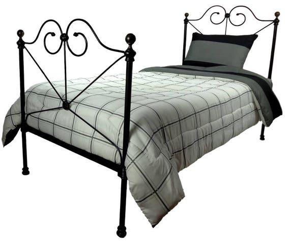 Twin Antique Cast Iron Bed Frame Single Size Antique Cast Etsy