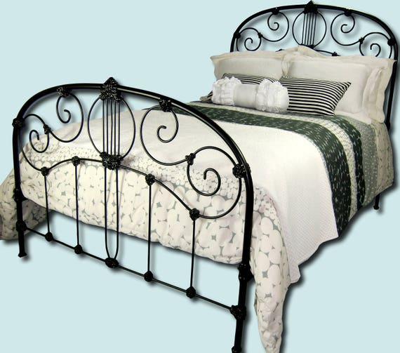 Full Antique Cast Iron Bed Frame Double Size Antique Cast Etsy
