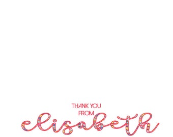 Thank You Note Flat with Floral Print