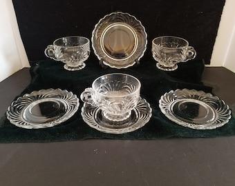 Elegant Cambridge Cups   and Saucers