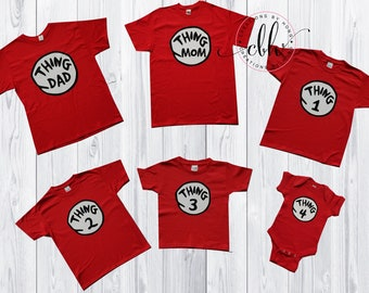 85cea628 Thing 1, Thing 2, Thing Shirts, Family Shirts, Thing Mom, Thing Dad, Shirts,  Baby Announcement