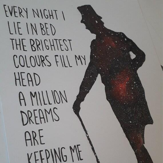 Watercolour A Million Dreams Song Lyric Quote Print